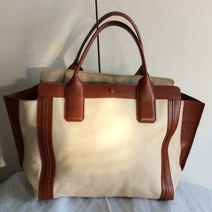 Chloe Alison Medium Leather Handbag - Beige  Brown